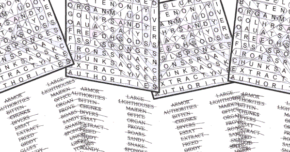 word search sample